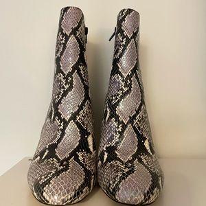 Snake print booties (ALDO)